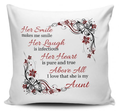 Her Smile Makes Me Smile...I Love That She Is My... Cushion Cover